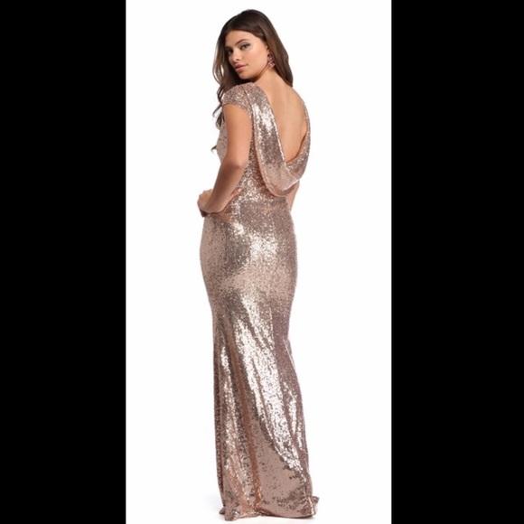 6326fb11ae2c Windsor Dresses | Rose Gold Sequin Dress | Poshmark